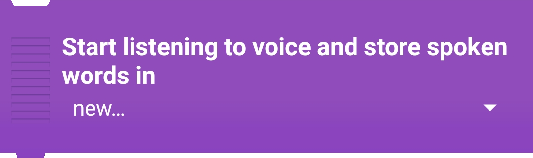 Start listening Voice and Store