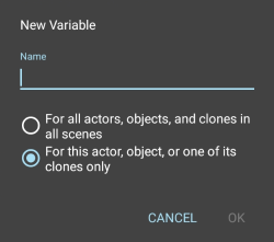 create variables
