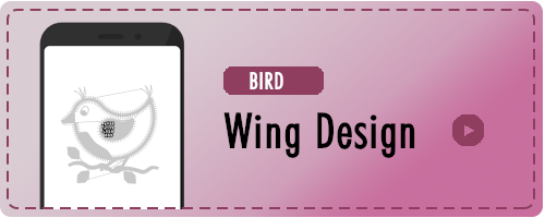 Bird Wing Design Badge