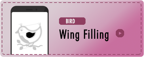 Bird Wing Fill Badge